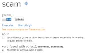 Meaning of the Word Scam