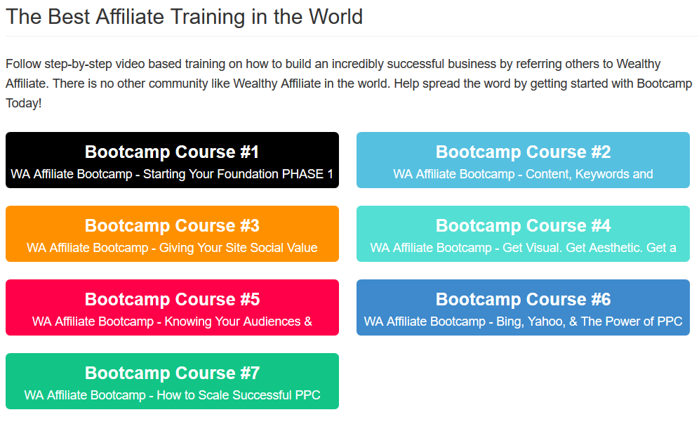 The Best Affiliate Training Program in the World