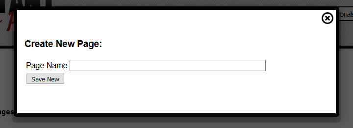 Step 2 is put in page name and click save new